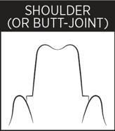 Dental Margin - Shoulder or Butt Joint